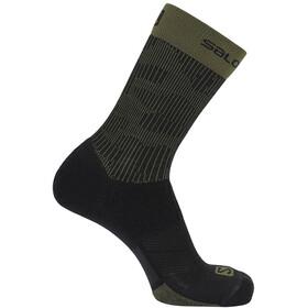 Salomon X Ultra Mid Socks, black/olive night